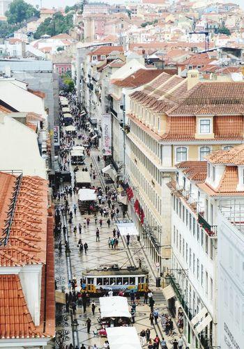 Lissabon Building Exterior Architecture Built Structure High Angle View City Outdoors People Day Lissabon, Electrico De Lisboa