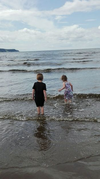 Ayr Ayrshire Ayr Beach Crazy Kids Water Seaside Freezing Cold Didn't Care Less Fun Times ♥ Not A Care In The World People Together Live For The Story