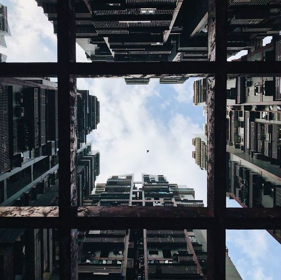 Minimalism Built Structure Sky Cloud - Sky Architecture Low Angle View Nature Building Exterior Building City Directly Below The Minimalist - 2019 EyeEm Awards