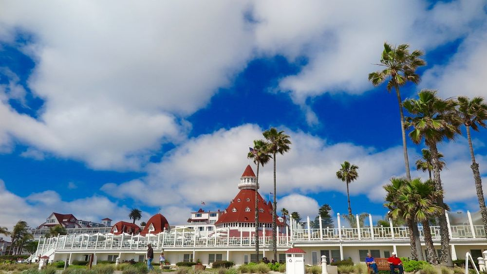 Hotel Del Coronado Blue Sky With Clouds Coronado Beach Hotel Del Coronado Perfect Day San Diego Ca Strong Colors