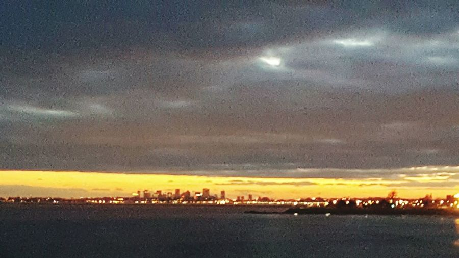 Dramatic Sky Sunset Scenics Boston, Massachusetts City Lights