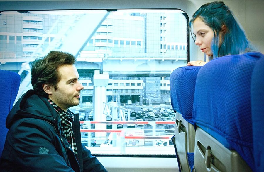 Eternal Sunshine Of The Spotless Mind Travel Train Train Station вечное сияние City Togetherness Person Mode Of Transport Young Adult Cosplay Cinema