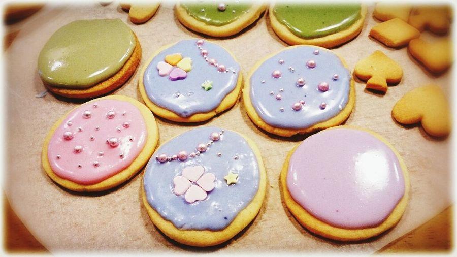 初めてのアイシング作り…失敗~(;つД`)Icing Cookies Valentine