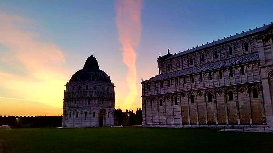 History Architecture Sunset Pisa Baptistery