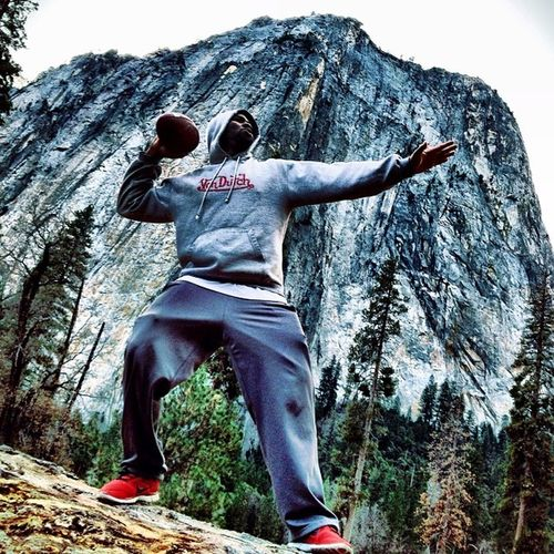 Yosemite Park Football League!! Yosemite YFL Beautiful Nature mountains trees obsessed w/ @kta_3xpressions and photo props @doublejteam