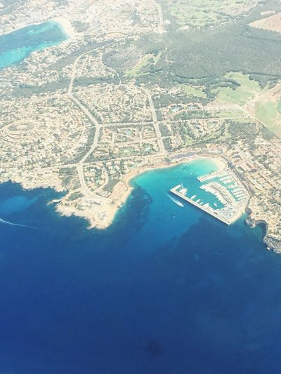 Mallorca Majorca From Above  From An Airplane Window Harbour Santa Ponsa