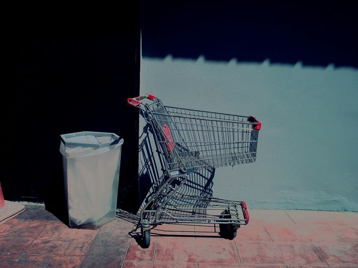 Metallic shopping cart