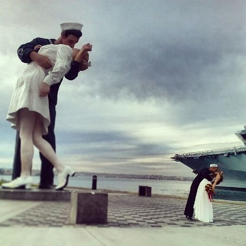 Whatfortheskyisperfect Sailorkiss Sandiego USS Midway  Streetphotography Urban Landscape Urbanphotography Sculpture