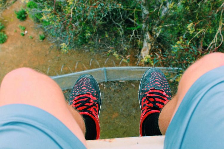 live on the edge Heights Scary Tower Looking Down Shoes Nike EyeEm Best Shots EyeEm Nature Lover EyeEmBestPics Canon Adventure