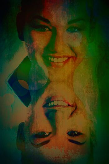 The Two-Headed Haunting: The Night Gallery I Am The Artist Thetwilightzone EyeEm Masterclass Eyeembest Thebestofeyeem Night Gallery Twilightzone Graphicdesign GrungeStyle Grunge Art Cutie♥ Sexygirl Photoshop Creepy Face Trippy Acidtrip Graphicart Avant-garde  Original Artwork Supernatural Acid Trip Darkart Macabre Art Headshots