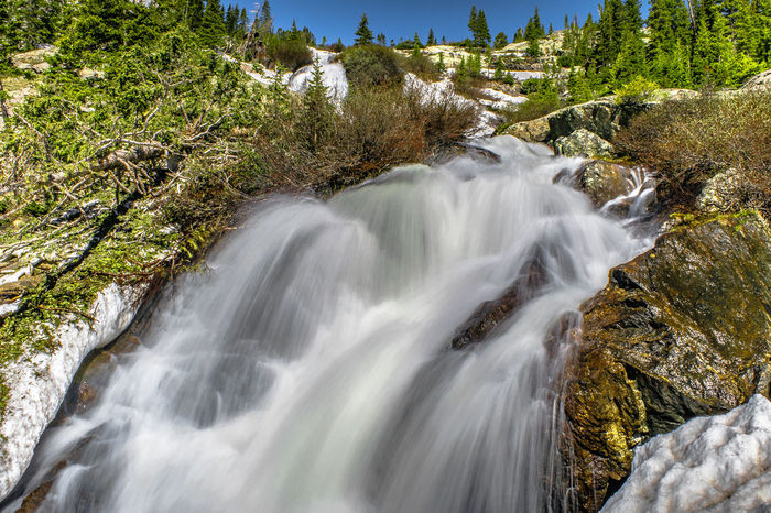 Waterfall in Breckenridge, Colorado Breckenridge Colorado Denver Long Exposure Shot Beauty In Nature Day Forest Landscape Long Exposure Motion Nature No People Outdoors Rock - Object Scenics Sky Summer Tranquil Scene Tranquility Tree Water Waterfall Waterfalls