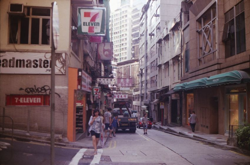 Analogue Photography Building Exterior City Hongkong Streets Outdoors People Street Streetphotography Walking Woman