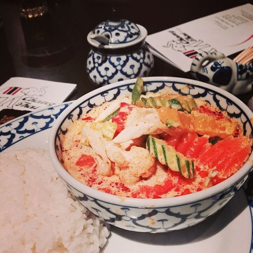 Gaeng Ped... #mahlzeit Changthai Gaengped Food Redcurry Essen Redthaicurry Red Thai Curry Foodporn Rice Mahlzeit Reis Tuttlingen Foodkoma