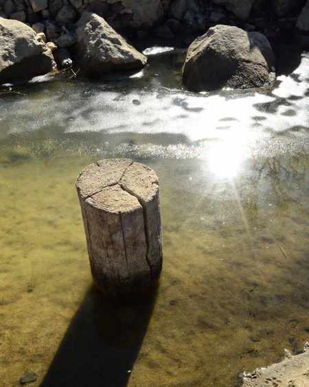 Glare and the shadow Beauty In Nature Day Nature No People Outdoors Shadow South Of Lingle Wyoming Sunlight Water