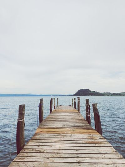 Water Sea Sky Pier Wood - Material Horizon Horizon Over Water Wood Paneling Nature Day Scenics - Nature Tranquil Scene Diminishing Perspective Beauty In Nature Direction The Way Forward Land Jetty Tranquility No People