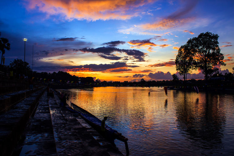 Colorful sky at