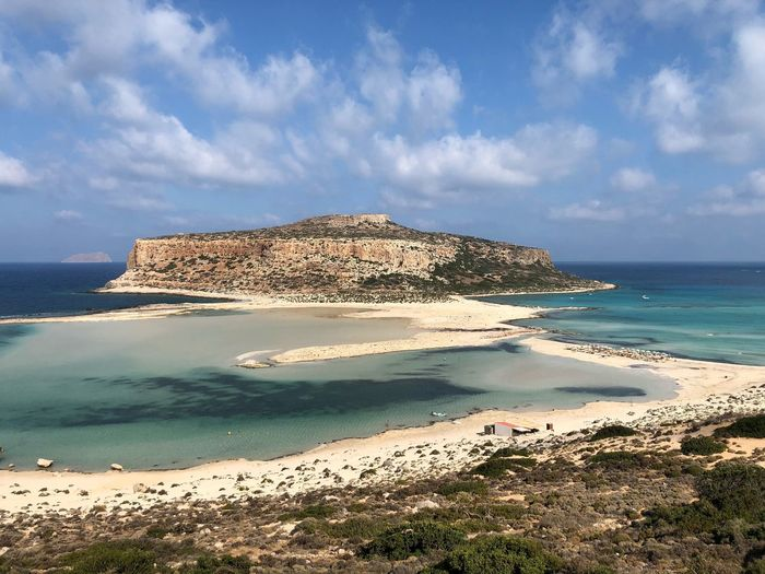 Balos Greece Kissamos Crete Landscape Sea Water Beach Land Sky Beauty In Nature Cloud - Sky Scenics - Nature Tranquil Scene Tranquility Nature Horizon Over Water Horizon Day Sunlight Idyllic No People Coastline Outdoors Sand