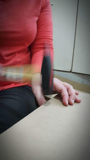 Nails Carpintero Oficios Trabajando Dedos Mujer Martillo Hammer Carpenter Nails Wood Madera Hands At Work