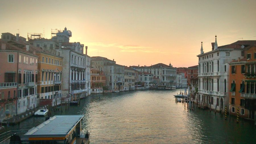 Venice, Italy Ponte Dell'Accademia Bridge Bridge View Canals And Waterways Sunset River Gran Canal Venezia Venezia Italia Italy Italia