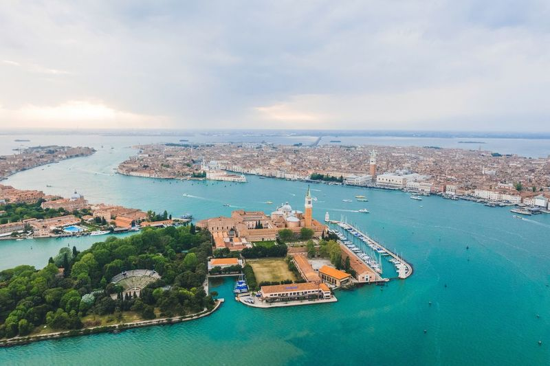 Water Sea Sky Architecture High Angle View Scenics Nautical Vessel Building Exterior Built Structure Aerial View No People Outdoors Nature Day City Cityscape Beauty In Nature Cloud - Sky Waterfront Travel Destinations Lost In The Landscape Venezia Droneshot Venice, Italy EyeEm Gallery Perspectives On Nature The Great Outdoors - 2018 EyeEm Awards