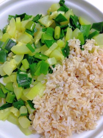 Rice Zucchini Green Onion Vegetables Vegan Food Vegetarian Food 365 Photos In 2015 Healthy Food Dinner