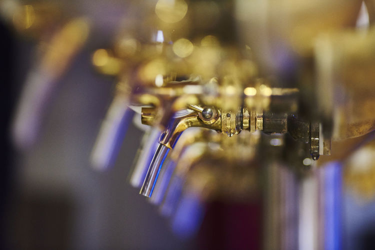beertap Bar Beer Beverage Blue Choice Close-up Cool Craftbeer Craftmanship Defocused Detail Focus On Foreground Illuminated In A Row Lifestyles No People Pub Repetition Selective Focus Tap Trendy