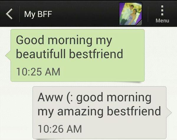 What My Bestfriend Sends Me In The Morning ^.^ #OneYear #Loveeee #Bestfriend