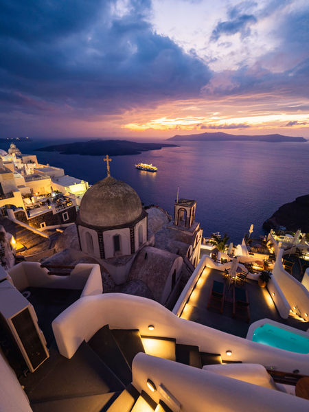 A firey sunset over Thira, Santorini Week On Eyeem Thira Santorini Santorini, Greece Sunset_collection Olympus Em1mk2 Night Architecture Greece Greek Islands Volcano Landscape_Collection cityscapes Water Scenics - Nature Travel Destinations Beauty In Nature Outdoors Travel Sea Sunset Building City Nature