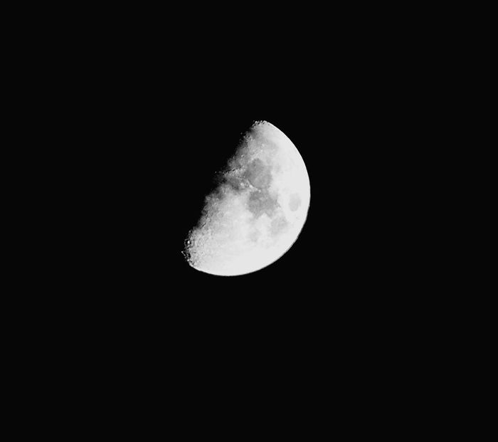 Moon Half Moon Sky Black And White Oujda Morocco Beauty Nature Grey oujda sky tonight 27 april 2015 time is running so fast 😮😮😮 a lot of questions comming to my mind ??????