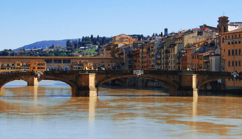 Architecture Bridge Bridge - Man Made Structure Building Exterior Built Structure Connection Firenze Florence Ponte Vecchio River Travel Destinations Tuscany Tuscany Landscape Water