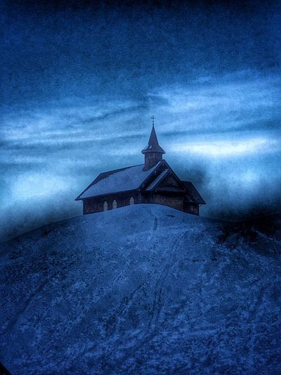 Norway Architecture Auto Post Production Filter Belief Blue Building Building Exterior Built Structure Cloud - Sky Dusk Nature No People Outdoors Religion Sky Snow Spirituality Stavkirke