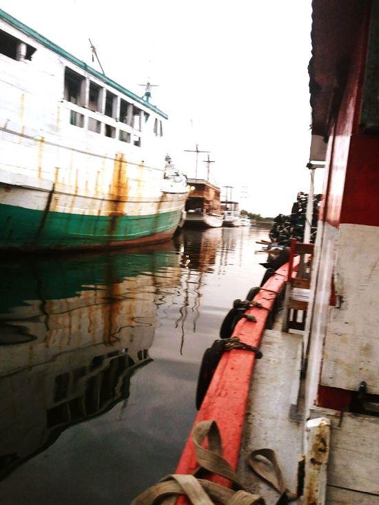 Semarang , Indonesia Over The Sea. Afternoon Samsung E5 Camera Outdoors Tanjung Emas