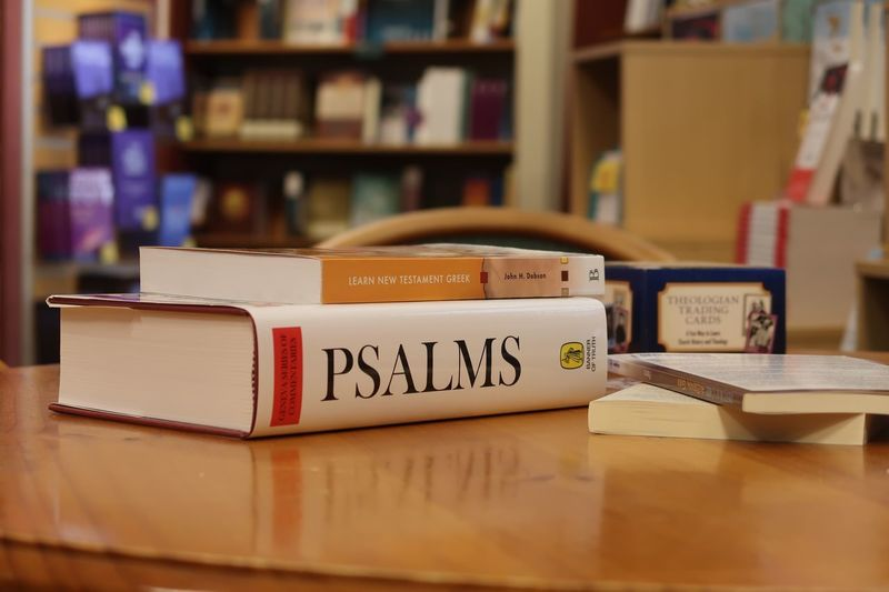 Psalms Text Publication Book Communication Indoors  Western Script Still Life