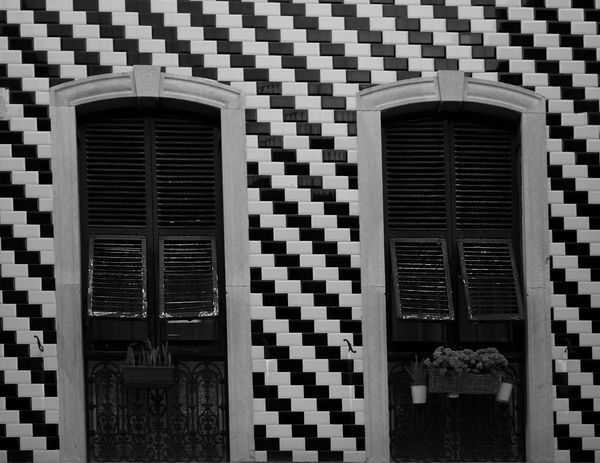 Shutters Wooden Shutters Architecture Building Exterior Built Structure Day Monochrome monochrome photography No People Outdoors Window Windows The Graphic City