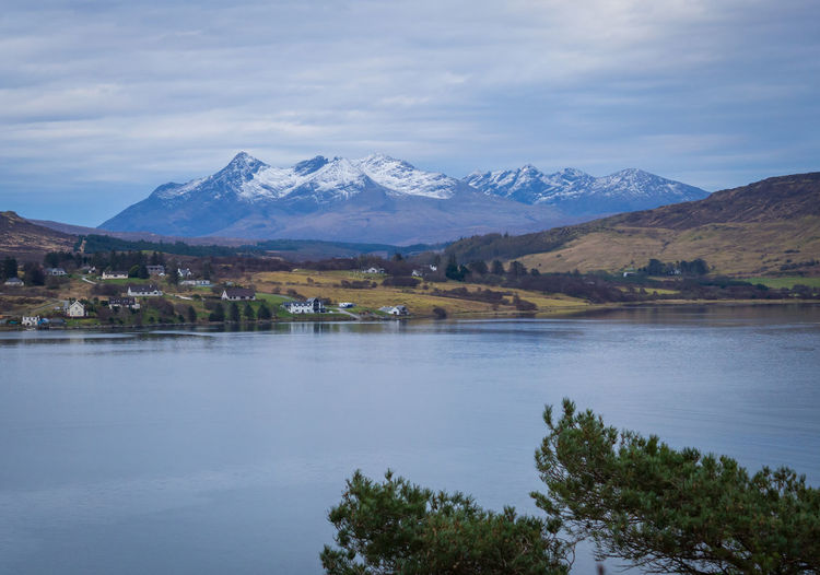 Loch Portree Mountain Beauty In Nature Landscape Nature Wilderness Lake Scenics - Nature Sky Outdoors Mountain Peak Snowcapped Mountain Water Environment