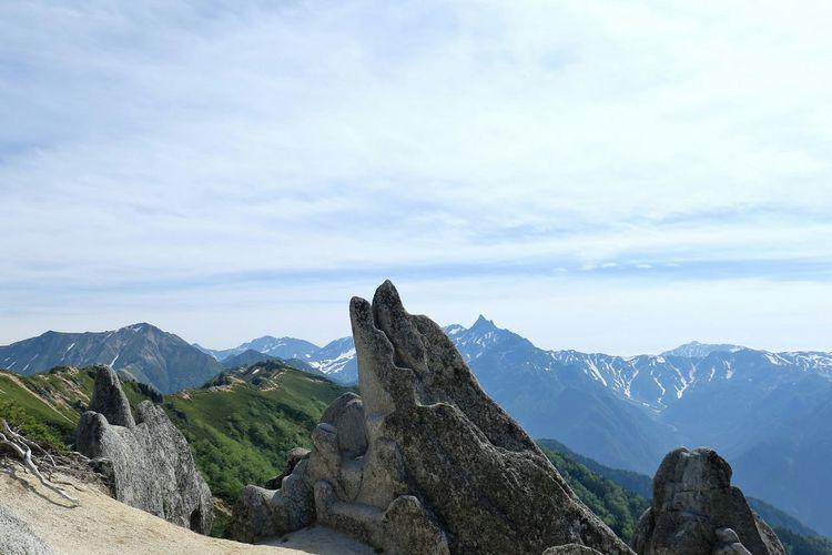イルカ岩🐬🎵 Dolphin Rock Mountain View Mountains Mt.Tsubakuro Naturelovers EyeEm Best Shots Nature On Your Doorstep PowerShot G3 X 燕岳