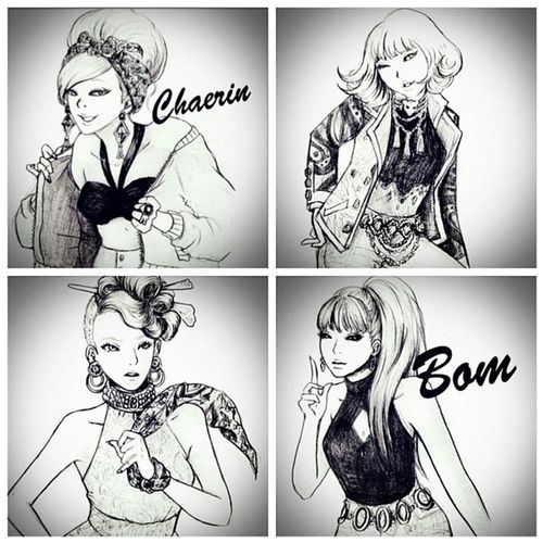 2NE1 CL Parkbom Sandara Minzy my favourite KPOP girl band @chaelin_cl