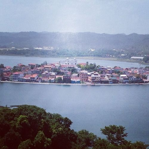 Flores from above. Flores Guatamala Island Vacation