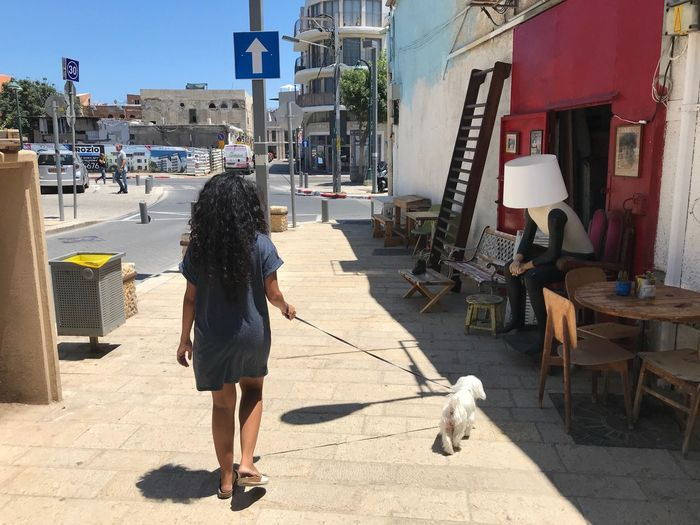 Israel Jaffa Hipster Tourist Art One Animal Real People Domestic Domestic Animals Full Length Dog Women Walking First Eyeem Photo Art One Animal Real People Domestic Domestic Animals Full Length Dog Women Walking First Eyeem Photo Sunlight