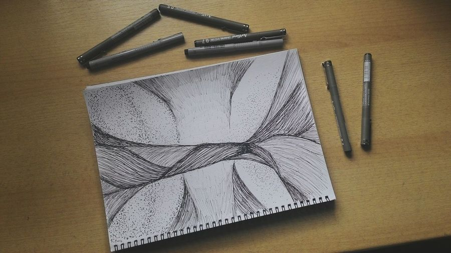 Spending the day with artline Lines Dots Twisted Spiral Basicdesign ArtWork Artline Enjoying Life Sketch Blackandwhite