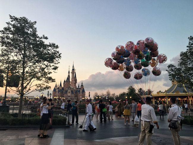 Fairytale. Fairytale  Dreamland Disney SHDR Shanghaidisneyresort Baloons Colorful Castle Outdoors Scenery EyeEmNewHere Shanghai❤