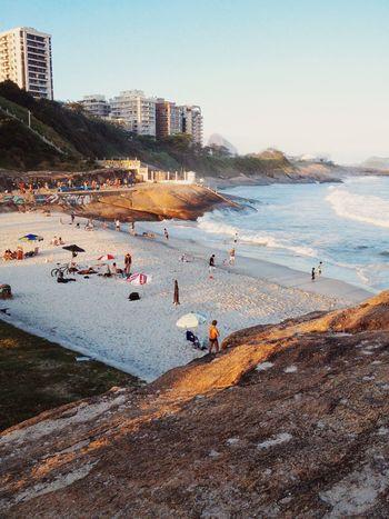 Arpoador, Rio de Janeiro Arpoador Beach Beach Photography Dois Irmãos Ipanema Nature Rio De Janeiro Rio De Janeiro Eyeem Fotos Collection⛵ Sunset Sunset Lovers Wave