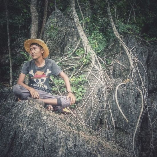 Md Isk One Piece Cosplay.... Sitting One Person Day People Nature Tree Langkawi Kedah Enjoying Life Hanging Out Relaxing Travel Destinations That's Me Pulautuba PulauDayangBunting Malaysia Langkawi Island Cosplay Luffy Luffy One Piece One Piece One Piece Fans