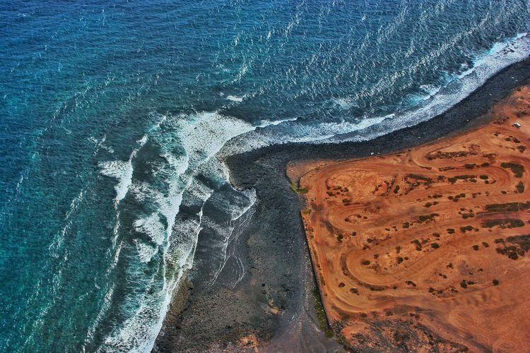 Aerial view of gran canaria coastline