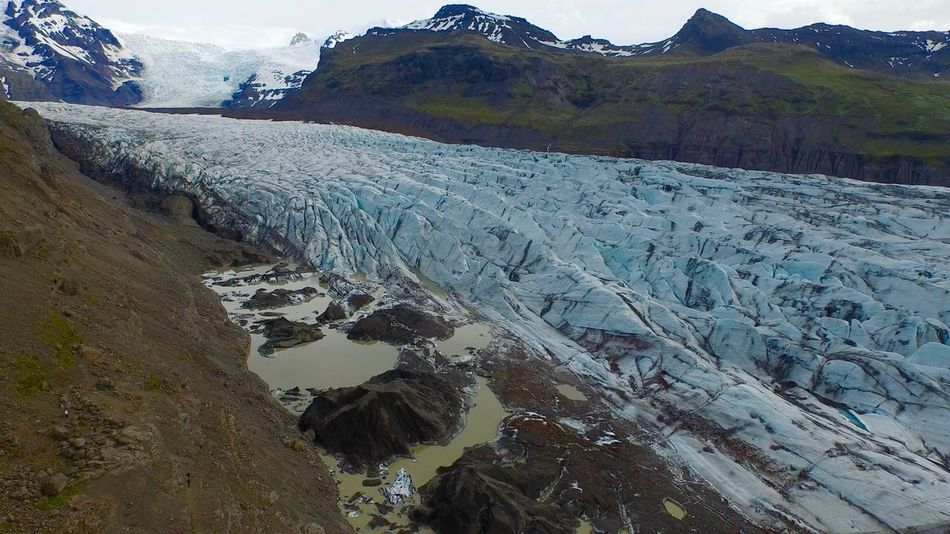 Drone  Beauty In Nature Blue Ice Blue Ice Glacier Cold Temperature Day Drone Photography Landscape Mountain Mountain Range Nature No People Outdoors Scenics Sky Tranquil Scene Tranquility