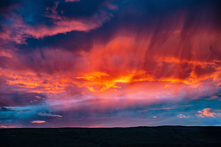 Cloud - Sky Sky Beauty In Nature Scenics - Nature Sunset Dramatic Sky Tranquil Scene No People Environment Nature Orange Color Landscape Idyllic Non-urban Scene Outdoors Dusk Iceland Island Srokkur Sunset/sunrise