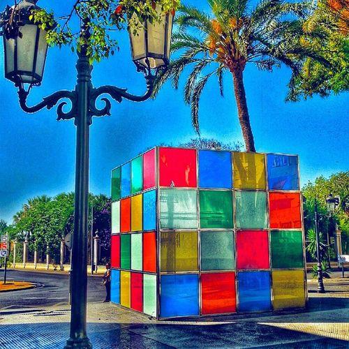 """Rompecabezas de 4 metros.-- Huge puzzle 36°36'26.69""""N 6°13'15.94""""O Esta curiosa estructura de acero inoxidable y cristal que parece un cubo de Rubik gigante, en realidad es una caseta para ocultar los equipos de la empresa municipal de aguas. ************************************************** ★★★★★FOTO SELECCIONADA★★★★★ Por las galerías: 👉🏼@ok_streets 👉🏼@todoclick 👉🏼@ok_hdr Les agradezco que hayan elegido esta foto, es un honor para mí poder compartirla y verla publicada en estas magnificas galerías.Gracias. Animo a todos a seguirlas y a usar sus etiquetas. ************************************************** Igerselpuerto Elpuertodesantamaria Andalucia_monumental Calles Andaluciaviva CallesConEncanto Hdr_spain IG_andalucia Andalucía Ok_hdr Todoclick Hdr_pics Hdr_lovers Great_captures_HDR Igersandalucia Anonymous_hdr Collection_hdr Ok_spain Hdr_captures Love_hdr_colour Ok_streets Roadwarrior_hdr Estaes_cadiz Best2gram Descubriendoigers travelmag_hdr hdr_proffesional ig_andalucia insta_world_free"""
