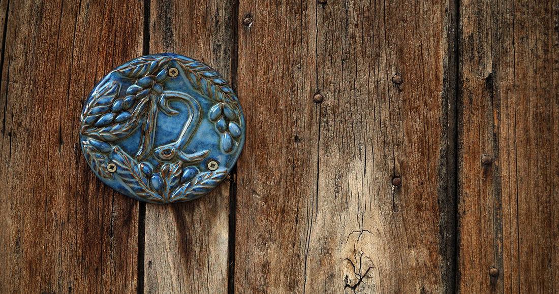 12 Bleu Bois Brown Ceramique Close-up Detail Door Grainedenature Plank Plaque Porte Puisaye Textured  Wood Wood - Material Yonne