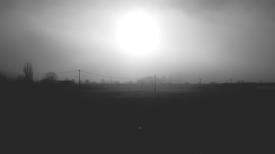 Auch Hazy  Electricity Tower Electricity Pylon Electricity  Power Supply Foggy Power Line  Shining Isolated Cable Countryside Mist