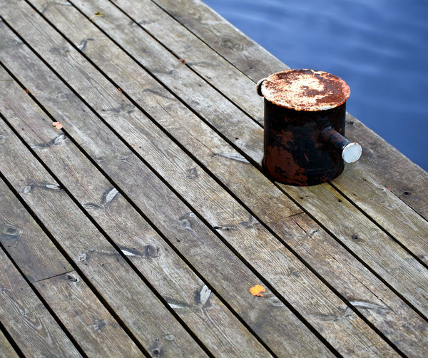 Aged Autumn Background Board Clamp Detail Marine Detail Meer Mooring Mooring Rope Navigation Quiet Rusty Timber Towline Vintage Wood Yellow